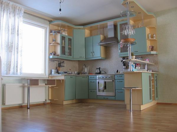 Дизайн маленькие кухни-гостиные
